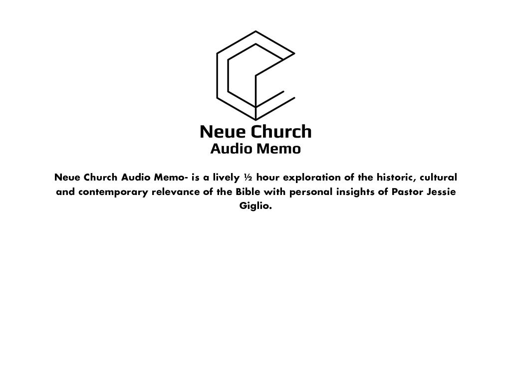 Neue Church Audio Memo copy